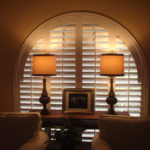 Custom cut shutters from Williams Window Treatments.